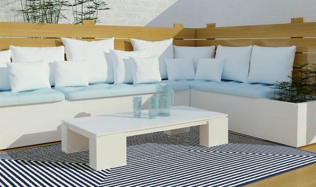 Aggiungi stile a terrazzo e giardino con i tappeti per esterno
